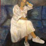 'Zelfportret', 2018, 50 x 70, olieverf