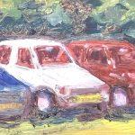 Dinie Goedhart, ongeveer 1998, olieverf, 10 x 40