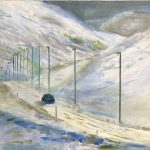 'IJsland Trapped 3', Dinie Goedhart, 50 x 60, olieverf op doek, 2018