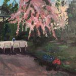 'Tuin 1', olieverf op linnen, 70 x 100, 2019
