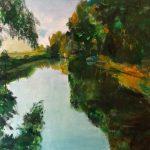 Dinie Goedhart, 'Spiegeling I, Zegveld I' 65 x 80, olieverf, 2019