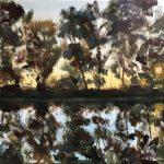 'De Meije, Zegveld III', olieverf op linnendoek, 50 x 70, 2019, € 400,-