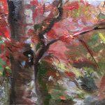 Herfst in Foudgum, 24 x 30, olieverf op doek, 2019