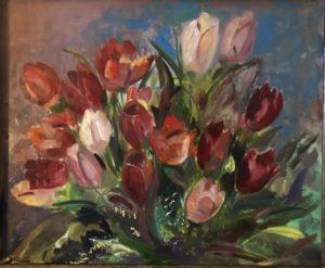Bos tulpen, 40x48, Olieverf op Mdf, 2020