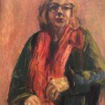 Zelfportret, 70 x 50, olieverf op linnendoek, 2020