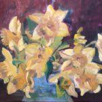 Narcissen, 30 x 40, olieverf op linnendoek, 2020