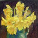 Narcissen, 30 x 30, olieverf op linnendoek, 2020