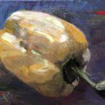Uit de serie: Groenten in olieverf, Gele paprika, 30 x 40, olieverf op linnendoek, 2020