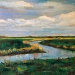 Bij Foudgum, 50 x 60, olieverf op paneel, 2020