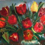 Tulpen IV, 25 x 40, olieverf op paneel, 2020