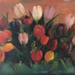 Tulpen II, 50 x 70, olieverf op linnendoek, 2020 € 450 inclusief lijst,