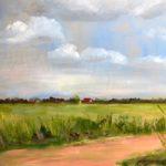 Uitzicht op Hiaure, 40 x 50, olieverf op paneel, 2020,