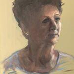Uit de serie: Froulju fan Foudgum', 26 portretten in olieverf op doek of paneel, 40 x 30, 2020