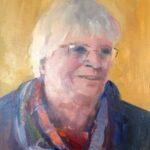 Akke Dijkstra, uit de serie 'Froulju fan Foudgum', alle 26 vrouwen uit Foudgum geportretteerd, 40 x 30, olieverf op doek of paneel, 2020