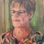 Jitske de Jong, uit de serie 'Froulju fan Foudgum', alle 26 vrouwen uit Foudgum geportretteerd, 40 x 30, olieverf op doek of paneel, 2020
