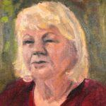 Conny Klein, uit de serie 'Froulju fan Foudgum', alle 26 vrouwen uit Foudgum geportretteerd, 40 x 30, olieverf op doek of paneel, 2020