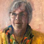 Akky Boersma, uit de serie 'Froulju fan Foudgum', alle 26 vrouwen uit Foudgum geportretteerd, 40 x 30, olieverf op doek of paneel, 2020