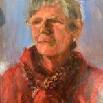 Tineke Rosier, uit de serie 'Froulju fan Foudgum', alle 26 vrouwen uit Foudgum geportretteerd, 40 x 30, olieverf op doek of paneel, 2020