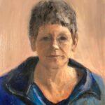 Hendrika Zuidema, uit de serie 'Froulju fan Foudgum', alle 26 vrouwen uit Foudgum geportretteerd, 40 x 30, olieverf op doek of paneel, 2020