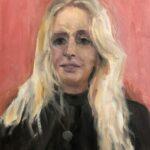 Nicky, uit de serie 'Froulju fan Foudgum', alle 26 vrouwen uit Foudgum geportretteerd, 40 x 30, olieverf op doek of paneel, 2020