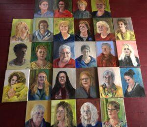 Project 'Froulju fan Foudgum', 26 portretten van alle vrouwen uit Foudgum, 40 x 30, olieverf of doek of paneel, 2020