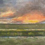 Uit de serie 'Het bijzondere licht in Fryslân IX', 24 x 30, olieverf op linnendoek, 2021