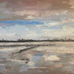 Uit de serie 'Het bijzondere licht in Fryslân VII', 24 x 30, olieverf op linnendoek, 2021