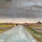 Uit de serie: 'Het bijzondere licht in Fryslân', 24 x 30, olieverf op linnendoek, 2021