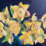 Narcissen, 30 x 40, olieverf op linnendoek, 2021