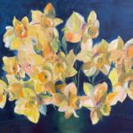 Narcissen, 60 x 80, olieverf op linnendoek, 2021