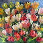 Tulpen, 50 x 60, olieverf op paneel, 2021