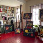 Overzicht bloemenschilderijen, maart 2021, olieverf op linnendoek of paneel, 2021