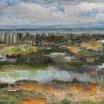 Dinie Goedhart, Wad III, 10 x 15, olieverf op 3D paneel, 2021, Galerie Paterswolde, Visitekaartjes